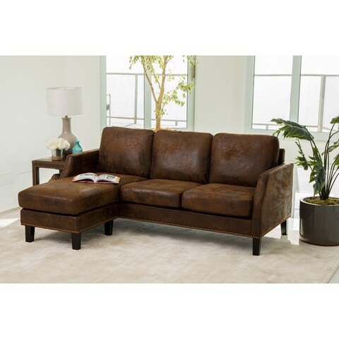 ABBYSON Henry Dark Brown Reversible Sofa Sectional