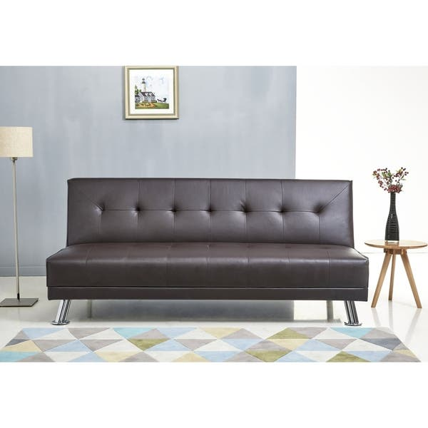 Stupendous Shop Abbyson Lexi Dark Brown Leather Sofa Bed Free Caraccident5 Cool Chair Designs And Ideas Caraccident5Info