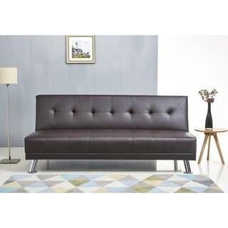 Merveilleux Abbyson Lexi Dark Brown Leather Sofa Bed