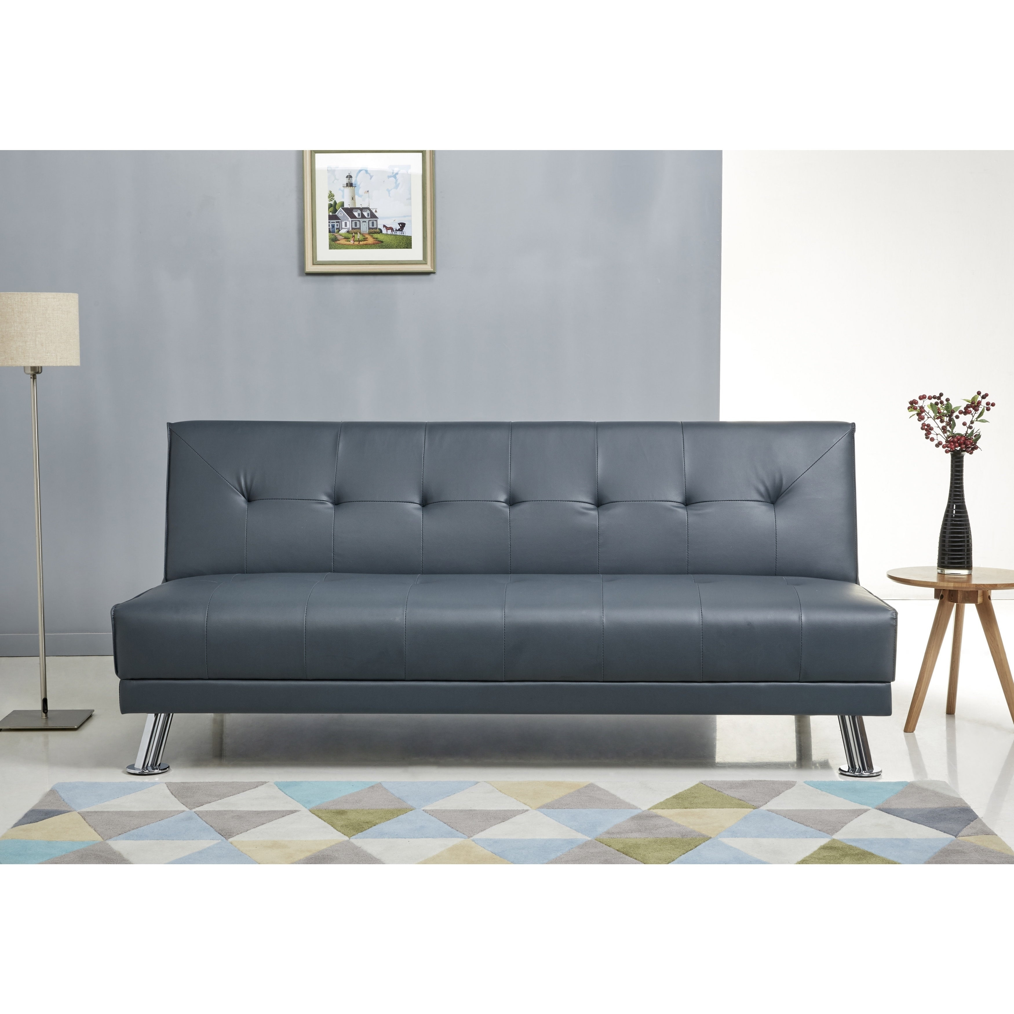 Blue Leather Sofa Bed Beautiful Blue Leather Sofa Bed 50