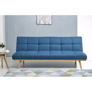 Abbyson Kenzie Mid Century Linen Sofa Bed (2 options available)