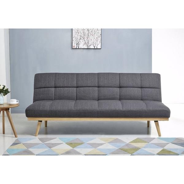 Shop Abbyson Kenzie Mid Century Linen Sofa Bed Free