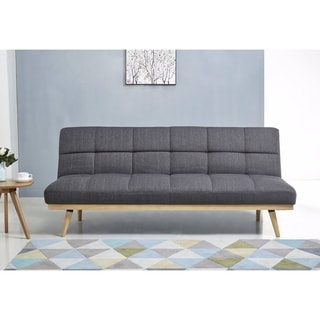 Abbyson Kenzie Mid Century Linen Sofa Bed