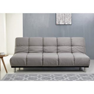 ABBYSON Charlotte Grey Fabric Sofa Bed