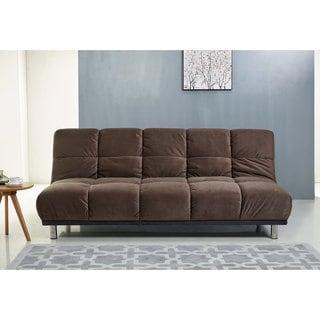 ABBYSON Charlotte Brown Fabric Sofa Bed