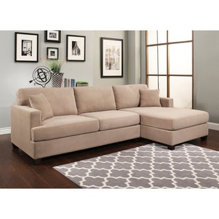 Abbyson Farrah Beige Fabric Sectional