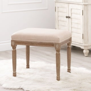 Abbyson French Vintage Rustic Beige Ottoman
