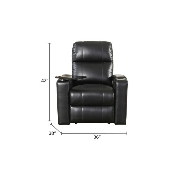 Amazing Shop Abbyson Rider Leather Theater Power Recliner On Sale Gamerscity Chair Design For Home Gamerscityorg