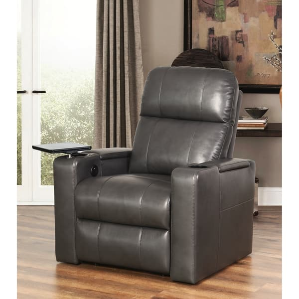 Outstanding Shop Abbyson Rider Leather Theater Power Recliner On Sale Gamerscity Chair Design For Home Gamerscityorg