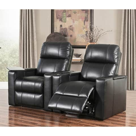 Abbyson Rider Leather Theater Power Recliner