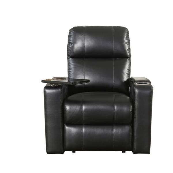 Remarkable Shop Abbyson Rider Leather Theater Power Recliner On Sale Machost Co Dining Chair Design Ideas Machostcouk
