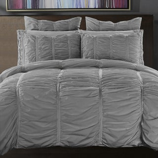 Ruffled Handcrafted Cotton Duvet Cover Set
