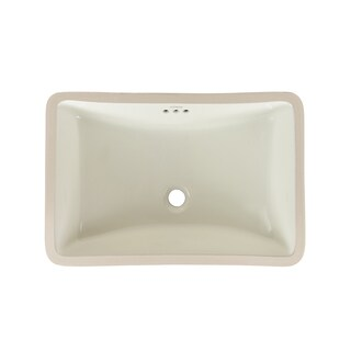 Ronbow Restyle 18 Inch Undermount Ceramic Bathroom Vanity Vessel Sink