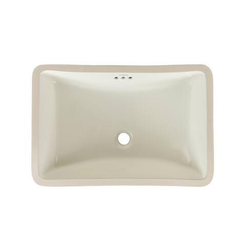 Ronbow Restyle 18-inch Undermount Ceramic Bathroom Vanity Vessel Sink
