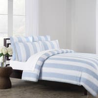Vintage Stripe Washed Belgian Linen Duvet Cover Set