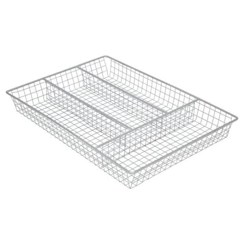 Sweet Home Collection Chrome Cutlery Holder Tray