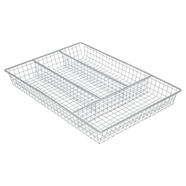 Sweet Home Collection Chrome Cutlery Holder Tray. Opens flyout.