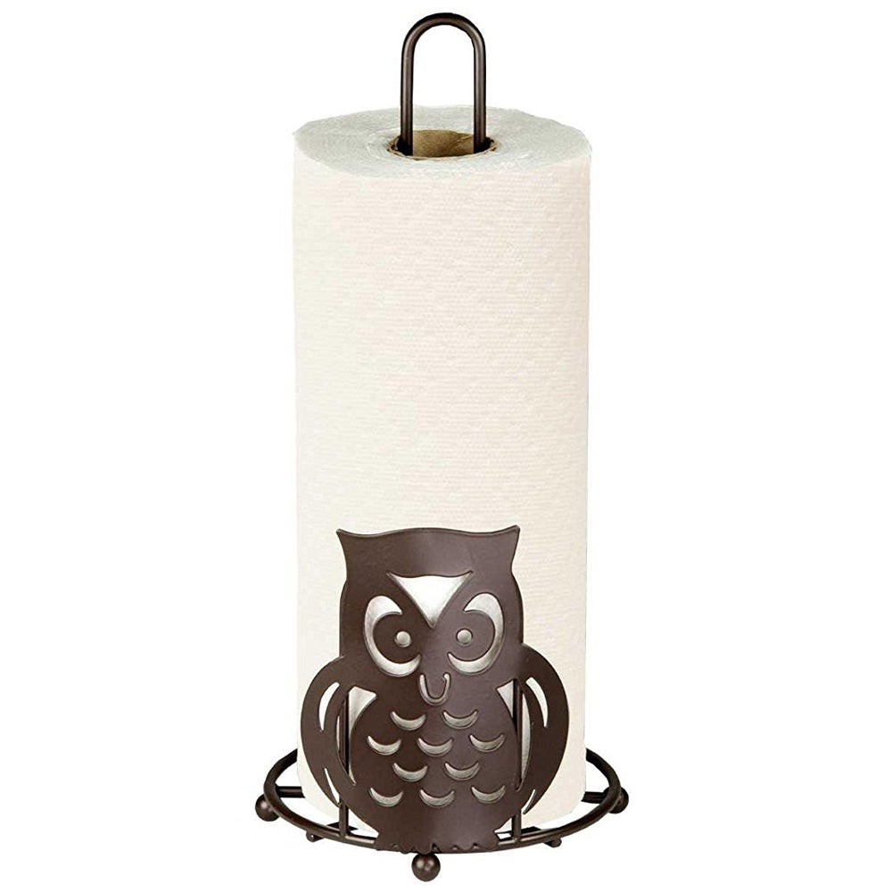 Sweet Home Collection Bronze Owl Paper Towel Holder (Bron...