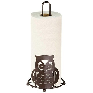 Sweet Home Collection Bronze Owl Paper Towel Holder