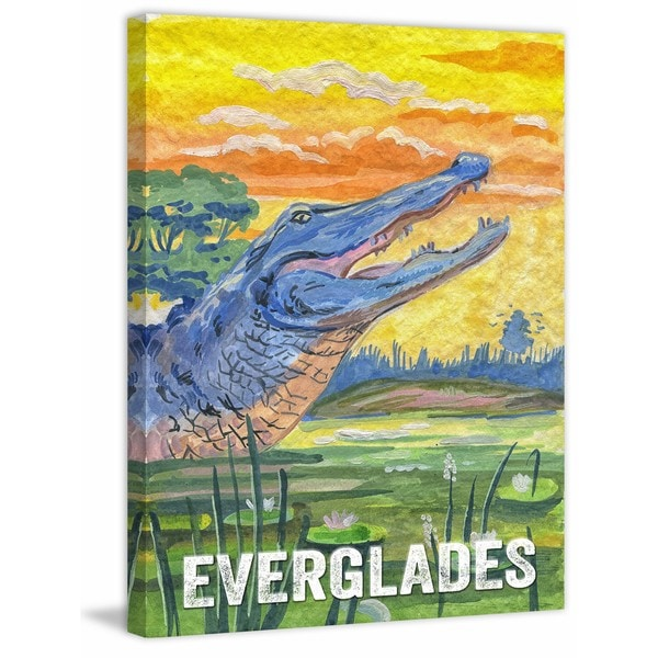 Marmont Hill - 'Everglades Poster' Painting Print on Wrapped Canvas