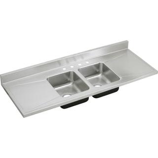 Elkay Gourmet Drop-in Steel Kitchen Sink D66290 Lustertone