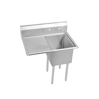 Elkay Economy Freestanding Steel Kitchen Sink E1C24X24-L-24X Buffed Satin