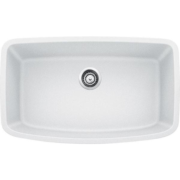 Shop Blanco Valea Undermount White Granite Kitchen Sink - Free ...
