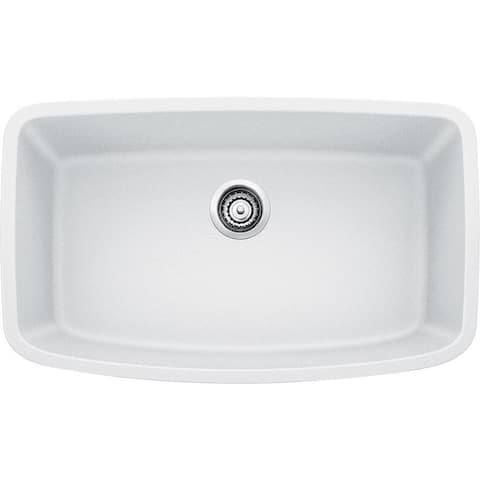Blanco Valea Undermount White Granite Kitchen Sink