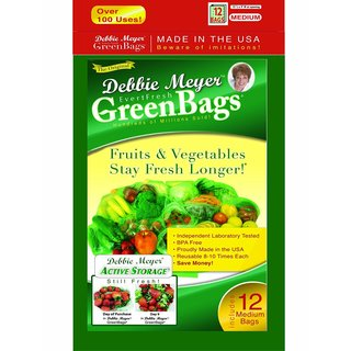 Debbie Meyer Medium Green Bags (Pack of 12)