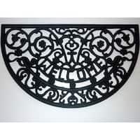 Welcome Scroll Rubber Doormat