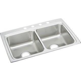 Elkay Gourmet Drop In/Self Rimming Steel Kitchen Sink LR33221 Lustertone
