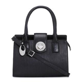 Phive Rivers Women's Leather Handbag (Black, PR1287)