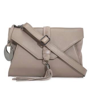 Phive Rivers Women's Leather Crossbody Bag (Grey, PR1280)|https://ak1.ostkcdn.com/images/products/14458336/P21020358.jpg?impolicy=medium