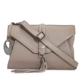 Handmade Phive Rivers Women's Grey Leather Crossbody (Italy)