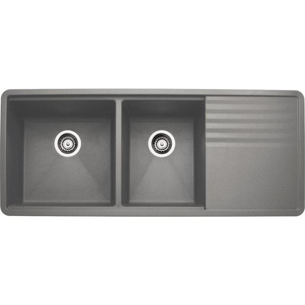 Shop Blanco Precis Undermount Granite Kitchen Sink 440411 Metallic ...