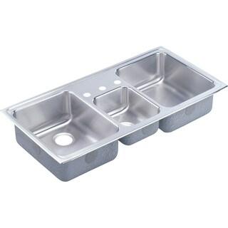Elkay Lustertone Steel LCR43223 Gourmet Drop In/Self Rimming Kitchen Sink