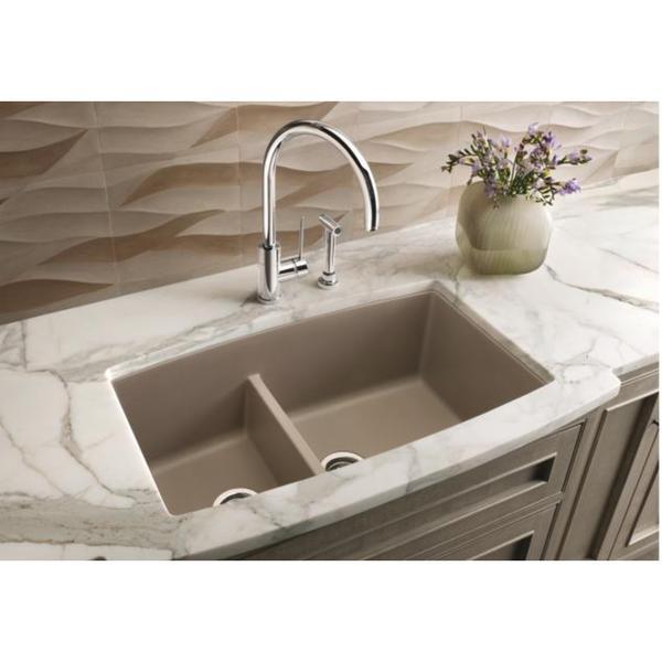 undermount granite kitchen sinks crushed granite blanco performa undermount truffle granite kitchen sink shop free