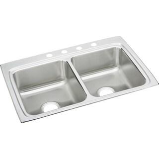 Elkay Lustertone Steel LR33225 Gourmet Drop In Kitchen Sink