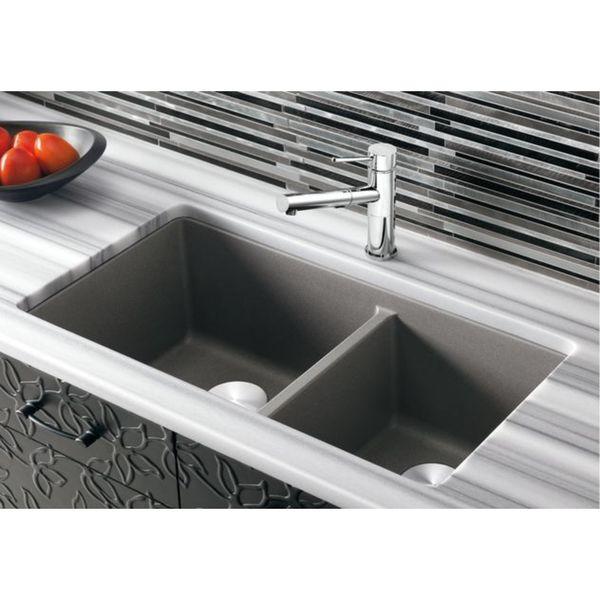 Blanco Precis Undermount Granite Kitchen Sink 441479 Cinder Blanco Cinder Sink D21