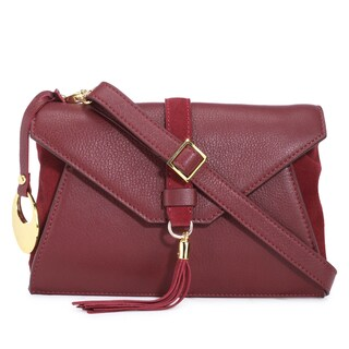 Phive Rivers Women's Leather Crossbody Bag (Red, PR1279) - One Size