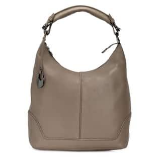 Handmade Phive Rivers Women's Leather Hobo Bag (Grey, PR1277)|https://ak1.ostkcdn.com/images/products/14458391/P21020361.jpg?impolicy=medium
