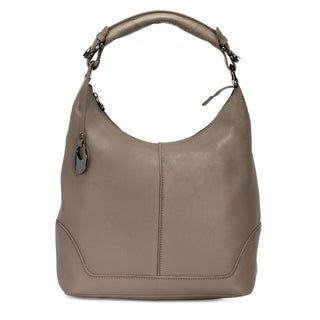 Handmade Phive Rivers Women's Leather Hobo Bag (Grey, PR1277)