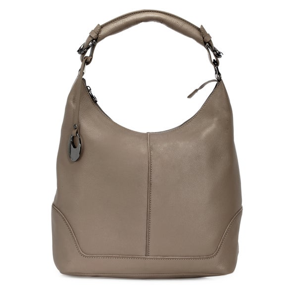 Handmade Phive Rivers Women's Leather Hobo Bag (Grey, PR1277) (Italy)