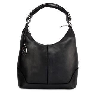 Handmade Phive Rivers Women's Leather Hobo Bag (Black, PR1276) - One size (Italy)