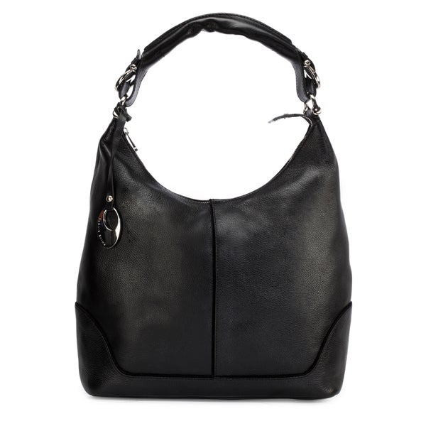 Handmade Phive Rivers Women's Leather Hobo Bag (Black, PR1276) - One size (Italy) - One size