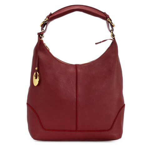 Handmade Phive Rivers Women's Leather Hobo Bag (Red, PR1275) - One size (Italy)