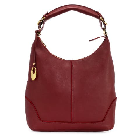 Handmade Phive Rivers Women's Leather Hobo Bag (Red, PR1275) - One size (Italy) - One size