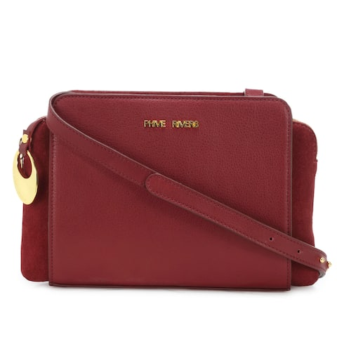 Handmade Phive Rivers Women's Leather Crossbody Bag (Red, PR1274) - One size (Italy) - One size
