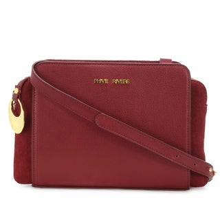 Handmade Phive Rivers Women's Leather Crossbody Bag (Red, PR1274) - One size (Italy)