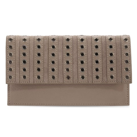 Handmade Phive Rivers Women's Leather Wallet (Grey, PR1283) (Italy)